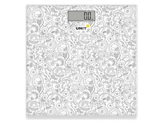 Весы напольные Unit UBS-2052 серый рисунок