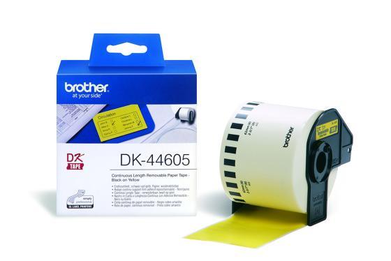 Наклейки Brother DK44605 62мм клеящаяся желтый наклейки brother dk44605 62мм клеящаяся желтый