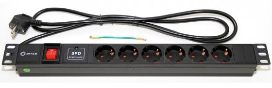 Блок розеток 5bites PDU619A-06 6 розеток 1.8 м черный