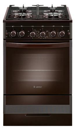 Комбинированная плита Gefest ПГЭ 5502-02 0045 коричневый