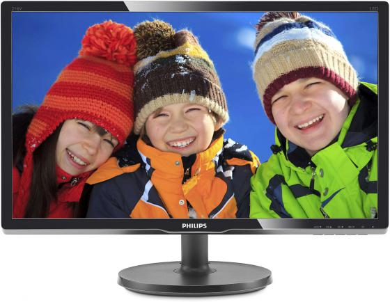 Монитор 21 Philips 216V6LSB2 10/62 черный TFT-TN 1920x1080 200 cd/m^2 5 ms VGA монитор 21 5 hp 22kd t3u87aa черный tft tn 1920x1080 200 cd m^2 5 ms vga