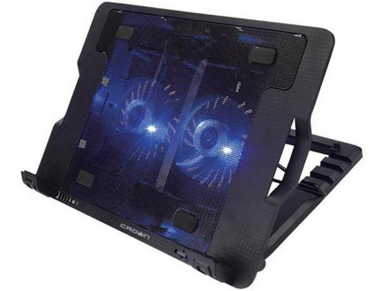 "лучшая цена Подставка для ноутбука 15.6"" Crown CMLS-940 265x370x50mm USB 25dB черный"