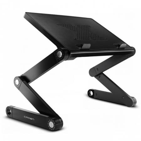 Столик для ноутбука до 15.6 Crown CMLS-102 алюминий/пластик стол подставка для ноутбука crown cmls 100 до 17 с вентилятором алюминий черная