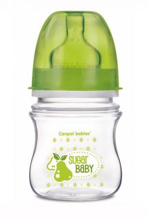 Бутылочка для кормления Canpol Фрукты 120 мл с 3 месяцев зеленый 35/212 бутылочка canpol easystart toys шир горл антикол pp 3 120 мл арт 35 220 цвет зеленый