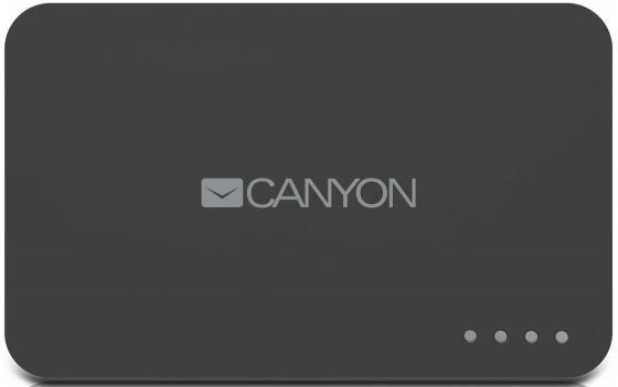 Портативное зарядное устройство Canyon CNE-CPB78DG 7800мАч серый портативное зарядное устройство canyon cne cpb130gz 13000мач гжель