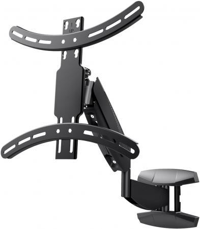 купить Кронштейн Wize WGS55 черный для 42-55 настенный от стены 60-560мм наклон +5/-10° VESA 400x400 до 21кг дешево