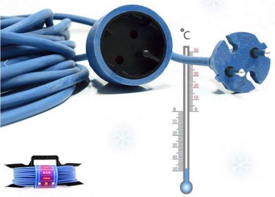 Удлинитель Power Cube PC-E1-F-20-R 1 розетка 20 м синий мастер кит power cube fb0025 розетка с usb white