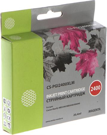 Картридж Cactus CS-PGI2400XLM для Canon MAXIFY iB4040/МВ5040/МВ5340 пурпурный картридж canon pgi 1400xl m для maxify мв2040 и мв2340 пурпурный 900 стр