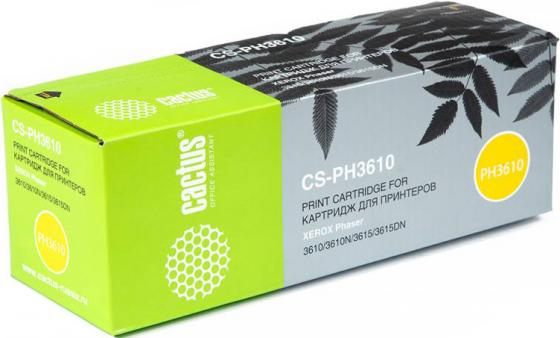 Картридж Cactus CS-PH3610 106R02721 для Xerox Phaser 3610/3610N/3615/3615DN черный 5900стр картридж xerox 106r02721 для xerox ph 3610 wc 3615 черный