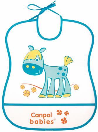 Нагрудник Canpol пластиковый мягкий 2/919 синий нагрудник canpol babies пластиковый с карманом в ассортименте