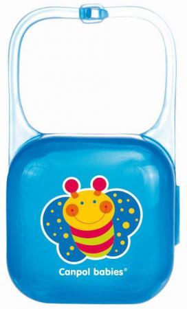 Контейнер для пустышки Canpol babies 2/927 с рождения синий блокиратор для двери canpol babies 2 691 230821007