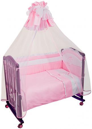 Постельный сет 7 предметов Сонный гномик Пушистик (розовый) комплекты в кроватку сонный гномик пушистик 7 предметов