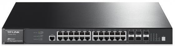 Коммутатор TP-LINK T2700G-28TQ управляемый 24 порта 10/100/1000Mbps 4xSFP tp link tl wn851n 300m беспроводная pci карта