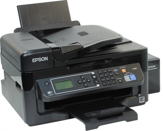 МФУ Фабрика печати Epson L566 цветное А4 33/15ppm 5760x1440dpi Ethernet USB Wi-Fi C11CE53403 мфу фабрика печати epson l3050 цветное a4 33 15ppm 2400x1200dpi usb wi fi c11cf46405