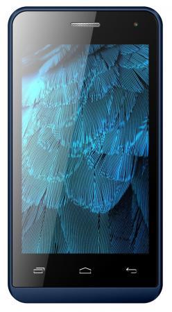 Смартфон Micromax Q324 синий 4 4 Гб Wi-Fi GPS 3G смартфон micromax bolt q346 lite 3g 8gb blue