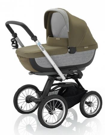 Коляска для новорожденного Inglesina Quad на шасси Quad XT Black (AB60F6FRS + AE64G0000) коляска для новорожденного