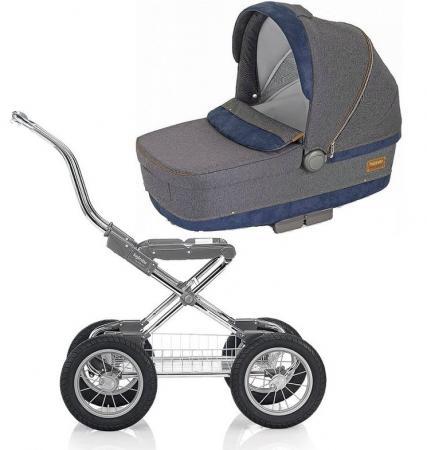 Коляска для новорожденного Inglesina Sofia на шасси Comfort Chrome/Slate (AB15G6JNS + AE10G6100B)