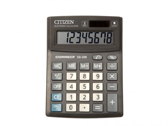 Калькулятор Citizen Correct SD-208 8-разрядный черный citizen correct d 316