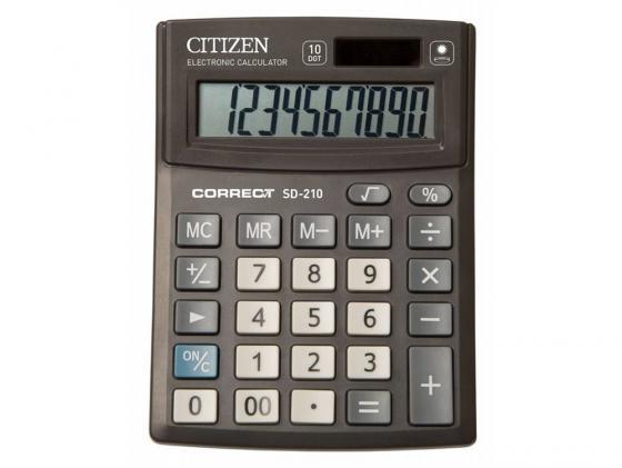 Калькулятор Citizen Correct SD-210 10-разрядный черный citizen correct d 316