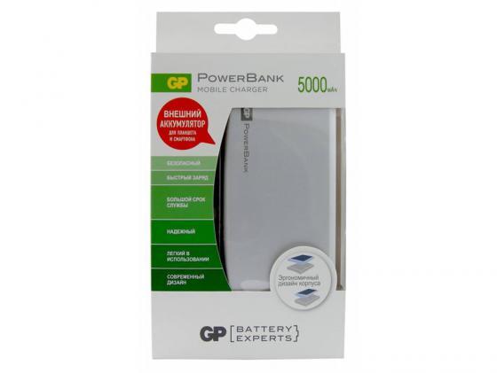 Внешний аккумулятор Power Bank 5000 мАч GPBI GPFP05MSE-2CRB1 серебристый