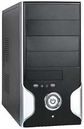 Корпус microATX Exegate MA-363 450 Вт серебристый чёрный EX189008RUS