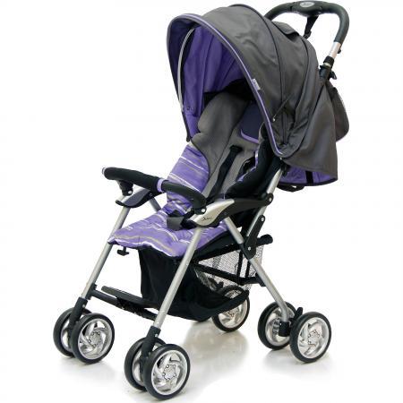 Коляска-трость Jetem Elegant (dark grey/purple полоска) коляска трость jetem picnic aqua s 102