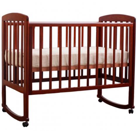 Кроватка-качалка Лель Ромашка АБ 16.0 (орех темный 35) кроватка mibb dado noce antico темный орех li030dna