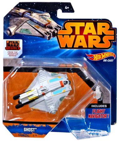 Звездолет Hot Wheels Star Wars Ghost CGW52 hot wheels модель звездного корабля y wing fighter gold leader cgw52 cgw53