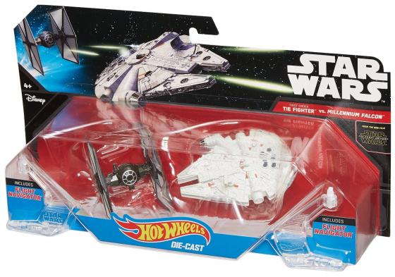 Игровой набор Mattel Star Wars: Tie Fighter vs Millennium Falcon 2 предмета CGW90 игровой набор hot wheels star wars tie fighter cgn33 cmt37