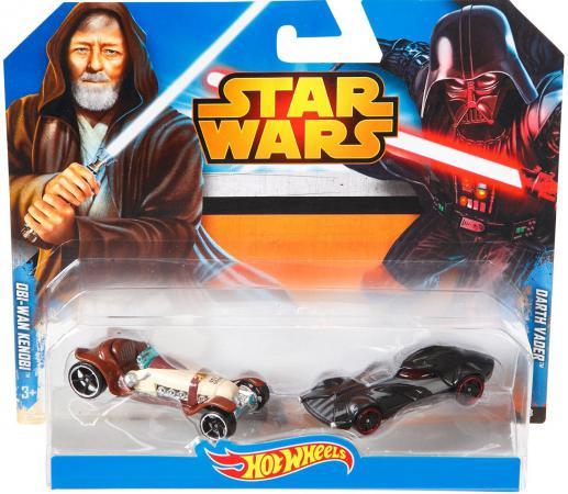 Набор машинок Mattel Hot Wheels Star Wars Obi-Wan Kenobi 2 предмета CGX06 hot wheels набор машинок star wars hot wheels