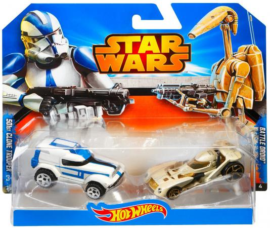 Набор машинок Mattel Hot Wheels Star Wars 501st Clone Trooper 2 предмета CGX07 цена 2017