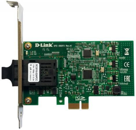 Сетевой адаптер D-Link DFE-560FX/A1A 10/100Mbps сетевой адаптер d link dfe 520tx 10 100mbps oem