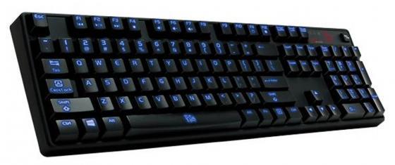 Клавиатура проводная Thermaltake Poseidon Z ILLUMINATED USB черный KB-PIZ-KLBLRU-01 мышь проводная tt esports by thermaltake azurues mini mo arm005dt black