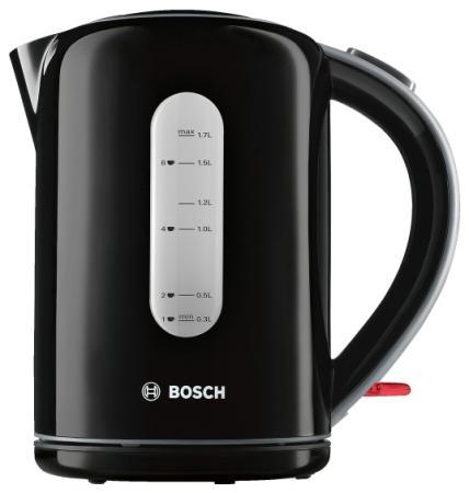 Чайник Bosch TWK7603 3000 Вт чёрный 1.7 л пластик чайник bosch twk7603 3000 вт чёрный 1 7 л пластик