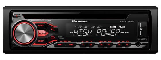 Автомагнитола Pioneer DEH-4800FD USB MP3 CD FM RDS 1DIN 4x100Вт пульт ДУ черный автомагнитола pioneer deh s100uba usb mp3 cd dvd fm rds 1din 4x50вт черный