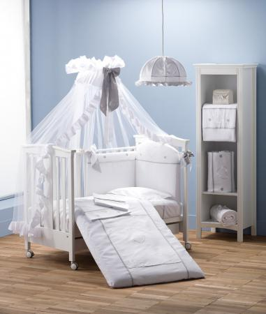 Комплект постельного белья 3 предмета Erbesi Cuori (белый) комплект постельного белья 3 предмета erbesi brillante белый