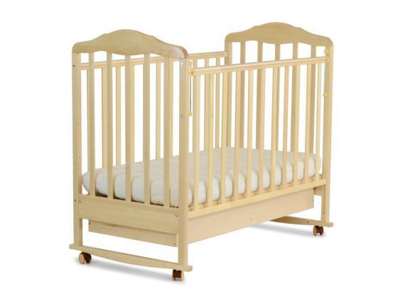 Кроватка-качалка СКВ Березка (береза/121115) кроватка скв березка 120119 бежевый