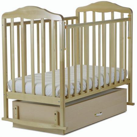 Кроватка-качалка с маятником СКВ Березка (береза/126005) обычная кроватка скв компани 234005 натуральная