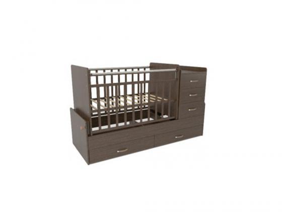 Кроватка-трансформер с маятником СКВ-5 (венге/544038) кроватка трансформер ведрусс раиса с маятником темная