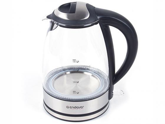 цены Чайник ENDEVER KR-316G 2400 Вт 1.8 л металл/стекло прозрачный