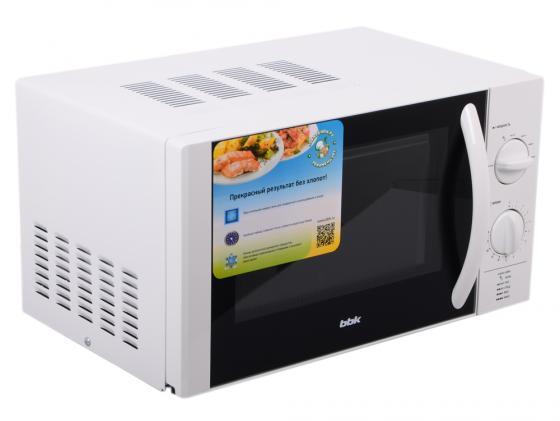 Микроволновая печь BBK 20MWS-713M/W 700 Вт белый bbk 20mws 712m wb белый черный