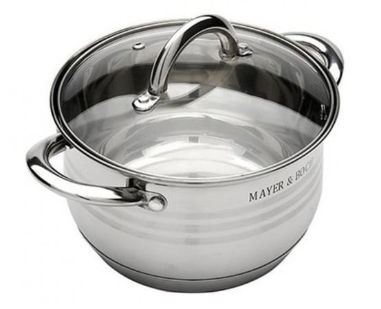 Кастрюля Mayer&Boch 24029-МВ 16 см 2 л нержавеющая сталь mayer boch мармит керам 2 свечи 2 3л розы мв