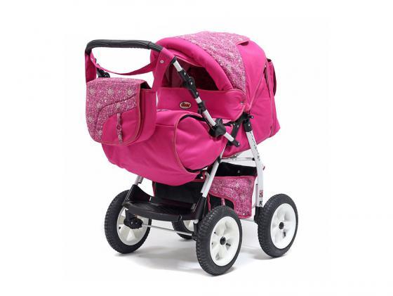 Коляска прогулочная Teddy BartPlast Victoria 2016 PKL (MO04/розовый) коляски трансформеры bart plast victoria pkl надувные колеса