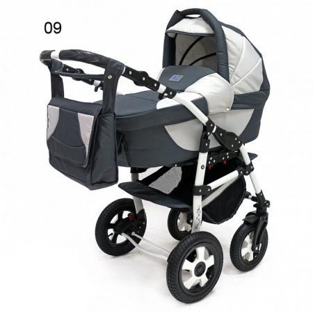 Коляска 3-в-1 Teddy BartPlast Serenade PCO-F (09/графит-серый) коляска 3 в 1 teddy bartplast serenade pco f графит серый