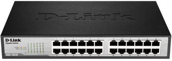 Коммутатор D-LINK DGS-1024C/A1A неуправляемый 24 порта 10/100/1000Base-T коммутатор d link dgs 1024c a1a неуправляемый 19u 24x10 100 1000base t