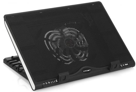 Подставка для ноутбука 15.6 Crown CMLS-925 270x370x55mm USB 780g черный