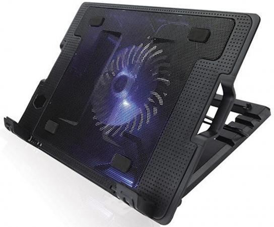 "цены Подставка для ноутбука 15.6"" Crown CMLS-926 265x370x50mm USB 700g черный"