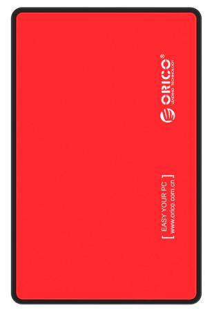 Фото - Внешний контейнер для HDD 2.5 SATA Orico 2588US3-RD / 2588US3-RD-PRO USB3.0 красный корпус 2 5 orico 2588us3 sata usb3 0 black