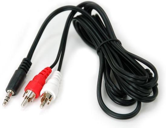 Кабель соединительный 1.5м Rexant 3.5 Jack (F) - 2xRCA (F) 17-4202 кабель jack jack vention кабель minijack jack 2 m