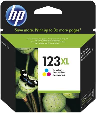 Картридж HP 123XL F6V18AE для DJ 2130 330стр цветной картридж hp cz101ae 650 black для dj ia 2515